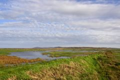 Planos escoceses da ilha fotografia de stock