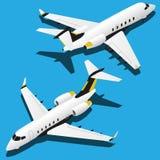 Planos isométricos do vetor ajustados da ilustração 2 ilustração royalty free