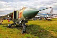 Planos militares no museu Kiev 2015 da aviação do estado Fotos de Stock