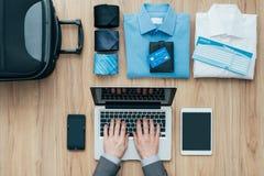 Planować biznesową podróż fotografia royalty free