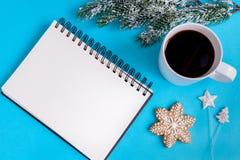Planować nowego roku odgórnego widoku błękita tło Obraz Royalty Free