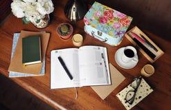 Planować zarządzanie, dzienniczek 3/ Obrazy Stock