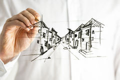 Planować miasto Zdjęcia Stock
