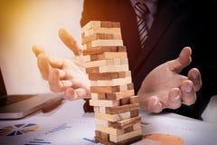 Planować, ryzyko i strategia w biznesowym pojęciu, biznesmena gama Obrazy Stock