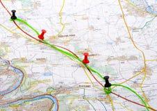 planowaną podróż Zdjęcia Stock