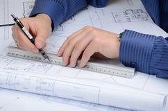 Plans Stock Photo