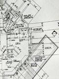 Plans. Closeup of detail architectual plans Stock Photography
