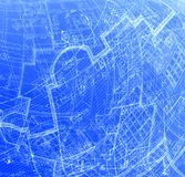 Plans. Abstract blue plans Royalty Free Stock Image