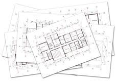 Plans architecturaux images stock