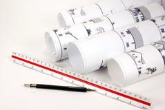 Plans architecturaux Photo libre de droits