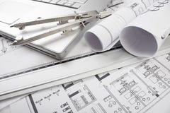 Plans architecturaux Photographie stock