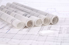 Plans architecturaux Images stock