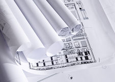 Plans of architecture Royalty Free Stock Image