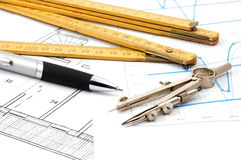 Plans for architecture Stock Image