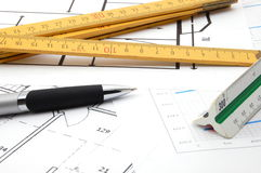 Plans for architecture Royalty Free Stock Images