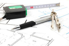 Plans for architecture Stock Images
