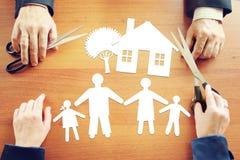 Plans au sujet de la vie de famille heureuse Photographie stock libre de droits