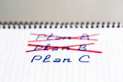 Plans A and B failed we need plan C Stock Photos