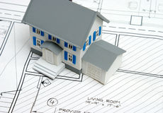 Plans d'étage à la maison neuve Photo stock