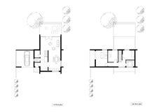 Plans d'étage de la maison vivante Photos stock