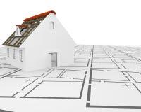 Plans d'architecte illustration de vecteur