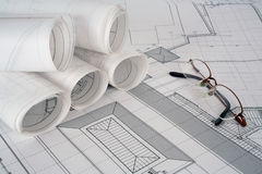 Plans d'architecte Photos libres de droits