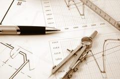 Plans d'Architectur des immeubles résidentiels photographie stock