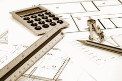 Plans d'Architectur des immeubles résidentiels photo stock