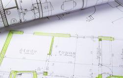 Plans d'architecture photos stock
