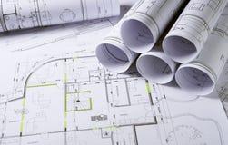 Plans d'architecture photos libres de droits