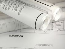 Plans de construction Photo libre de droits