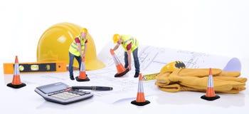 Plans de construction Images libres de droits