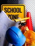 Plans de construction d'école Photos libres de droits