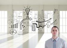 Plans de transport et barre de construction d'architecte Image libre de droits