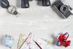 Plans de voyage et de vacances Photo libre de droits
