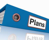 Plans File As Contains Targets And. Plans File As Containing Targets And Goals Stock Photos