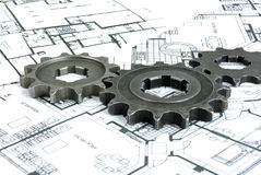 Plans gears Royalty Free Stock Images