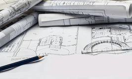 Plans of house Stock Photo
