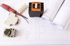 Plans  of a industrial building Royalty Free Stock Photo