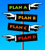 Plans. Making plans and having back-up plans Royalty Free Stock Images