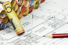 Plans & Money Stock Images