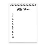2017 plans on notebook paper vector Royalty Free Stock Photo