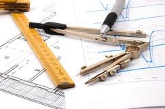 Plans pour l'architecture Photo stock