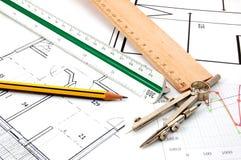 Plans pour l'architecture Photo libre de droits