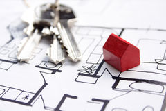 Plans pour la maison neuve Image stock