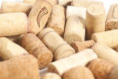 Plans rapprochés des lièges de vin Photos libres de droits