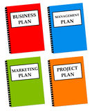 Plans. Several kinds of plans needed in a decent company Royalty Free Stock Photos