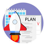 Plans to launch new start up vector Stock Photos