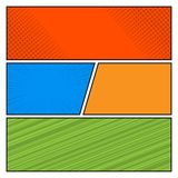 Planschablone des Comics-Farbpop-arten-Artfreien raumes Stockfoto
