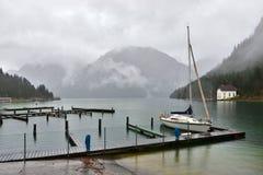 Plansee jezioro w Austria. Padać krajobraz Obraz Royalty Free